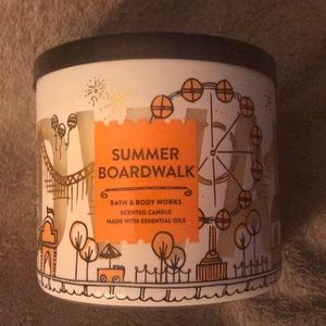Brand New Summer Boardwalk 3 Wick Candle